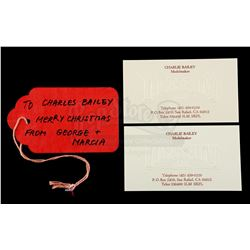 Lot # 731: Charles Bailey Christmas Tag And 2 Business Ca