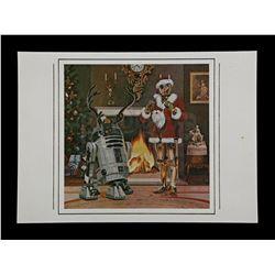 Lot # 732: Star Wars Santa and Reindeer Christmas Card