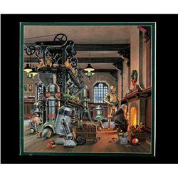 Lot # 733: Star Wars Santa's Workshop Christmas Card