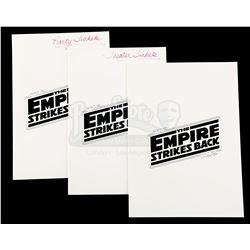 Lot # 738: 3 ESB Premiere Invitation Cards