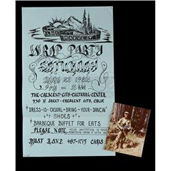 Lot # 743: Blue Harvest Wrap Party Poster And Actor Perso