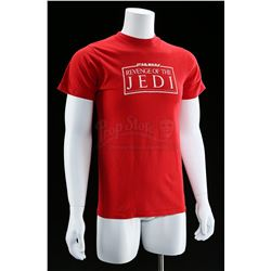 "Lot # 767: Red ""Revenge Of The Jedi"" Crew Shirt [Kazanjia"