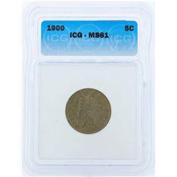 1900 Liberty Head Nickel Coin ICG MS61