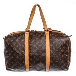 Louis Vuitton Monogram Canvas Leather Sac Souple 55 cm Duffle Bag