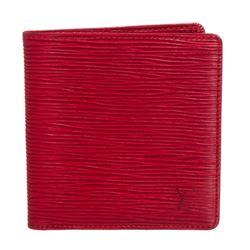 Louis Vuitton Red Epi Leather Porte-Billets 6 Cartes Credit Wallet