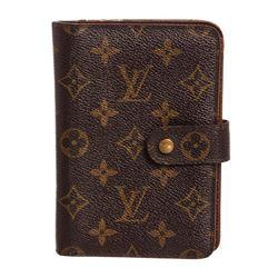 Louis Vuitton Monogram Canvas Leather Porte Papier Zippe Wallet