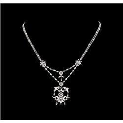 2.60 ctw Diamond Necklace - 18KT White Gold