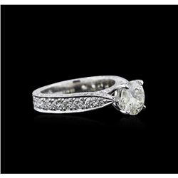 3.04 ctw Diamond Ring - 18KT White Gold
