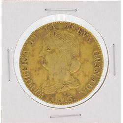 1846 Columbia Diez Pesos Gold Coin