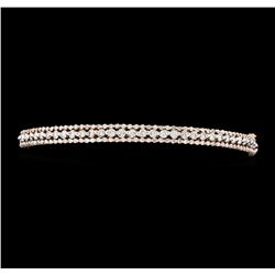 1.68 ctw Diamond Bangle Bracelet - 14KT Rose Gold