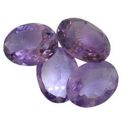 29.78 ctw Oval Mixed Amethyst Parcel