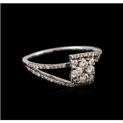 14KT White Gold 0.53 ctw Diamond Ring