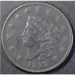 1827 LARGE CENT XF