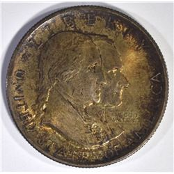 1926 SESQUI COMMEM HALF DOLLAR, CH BU TONED