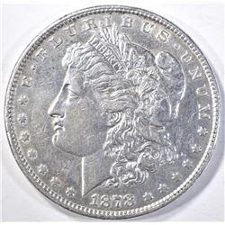 1878 8TF MORGAN DOLLAR, AU/BU