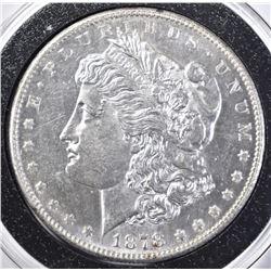 1878-S MORGAN DOLLAR, CH BU PL