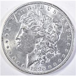 1886 MORGAN DOLLAR, GEM BU