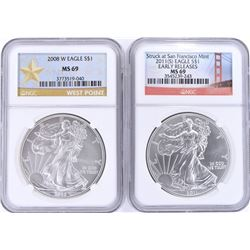 2011-S EARLY RELEASE & 2008-W ASE NGC-69