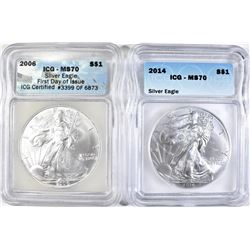 2006 FIRST DAY & 2014 SILVER AMERICAN