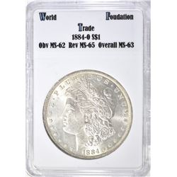 1884-O MORGAN DOLLAR WTF CH BU