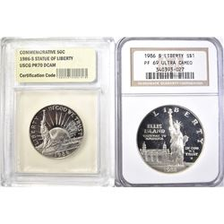 1986-S LIBERTY COMMEN DOLLAR NGC PF-69