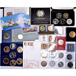 LARGE GROUP OF MEDALS AND FIRST DAY COVERS