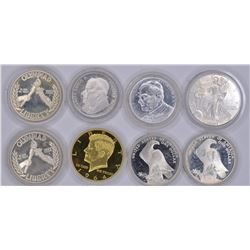 MIXED LOT OF SILVER AND MEDALS