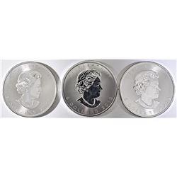 3-2019 CANADA  1-oz .999 SILVER MAPLE LEAF COINS
