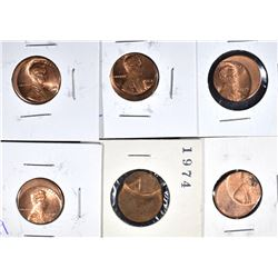 6-OFF CENTER LINCOLN CENTS