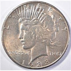 1935-S PEACE DOLLAR, CH BU+