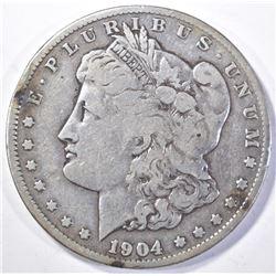 1904-S MORGAN DOLLAR, VF KEY DATE
