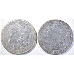 1901-S & 04-S VG MORGAN DOLLARS