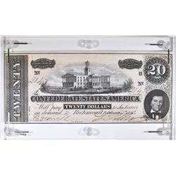 1864 $20 CONFEDERATE STATES OF AMERICA