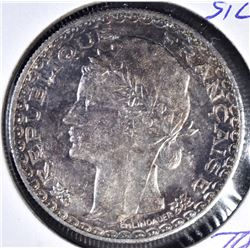 1931 A SILVER PIASTER FRENCH INDO-CHINA CH BU