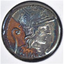 127 BC C. SERVILIUS VATA SILVER DENARIUS