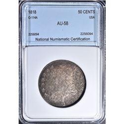 1818 50 CENTS  NNC AU/BU