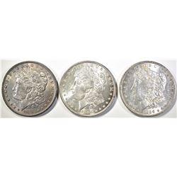 (1) 1886 & (2) 1896 MORGAN DOLLARS  ALL CH BU