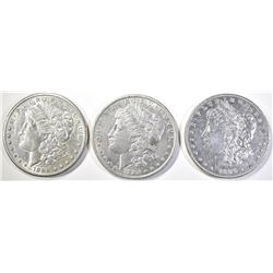 1886 BU, 1884 & 1899-O AU/BU MORGAN DOLLARS