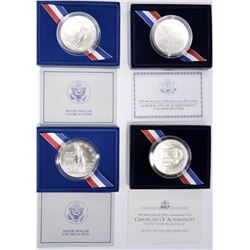 MODERN COMMEMORATIVE SILVER DOLLARS: