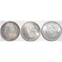 1884-O, 1885-O, 1886 MORGAN DOLLARS  CH BU