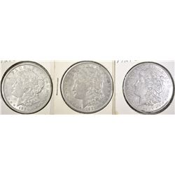 2-1921-D AU & 1-21-S AU MORGAN DOLLARS