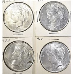 2-1922 & 2-23 CH BU PEACE DOLLARS