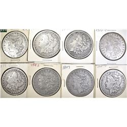 8-AVE CIRC MORGAN DOLLARS: