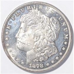 1878-S MORGAN DOLLAR  BU  PROOF LIKE