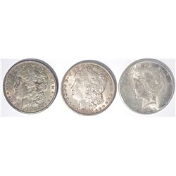 1885-O, 90 MORGAN DOLLARS & 1923-S