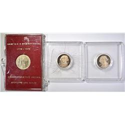 3 BICENTENNIAL GOLD COINS