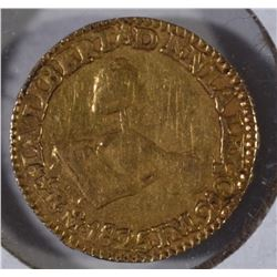1825 MEXICO GOLD 1/2 ESCUDO