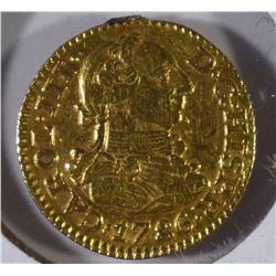 1786 SPAIN GOLD 1/2 ESCUDO