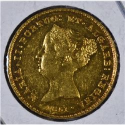 1851 PORTUGAL GOLD 2500 REIS