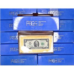 11 EMPTY PCGS BOXES & 1976 $2 FRN FIRST DAY ISSUE